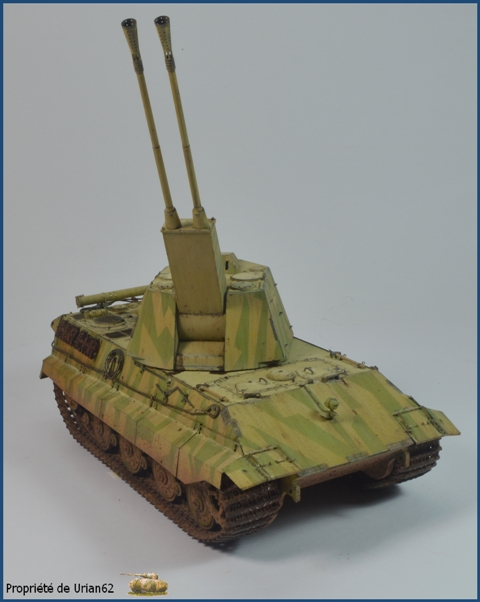 E-75 Flakpanzer [TRUMPETER] PE [VOYAGER MODEL] Canons [RB MODEL] Chenilles [FRIUL] (Weather en cours E-75_f14