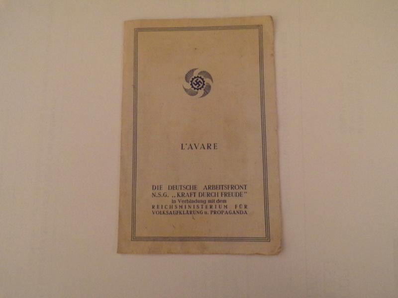 fascicule propagande allemande l'Avare (pièce de théâtre) 101_3811