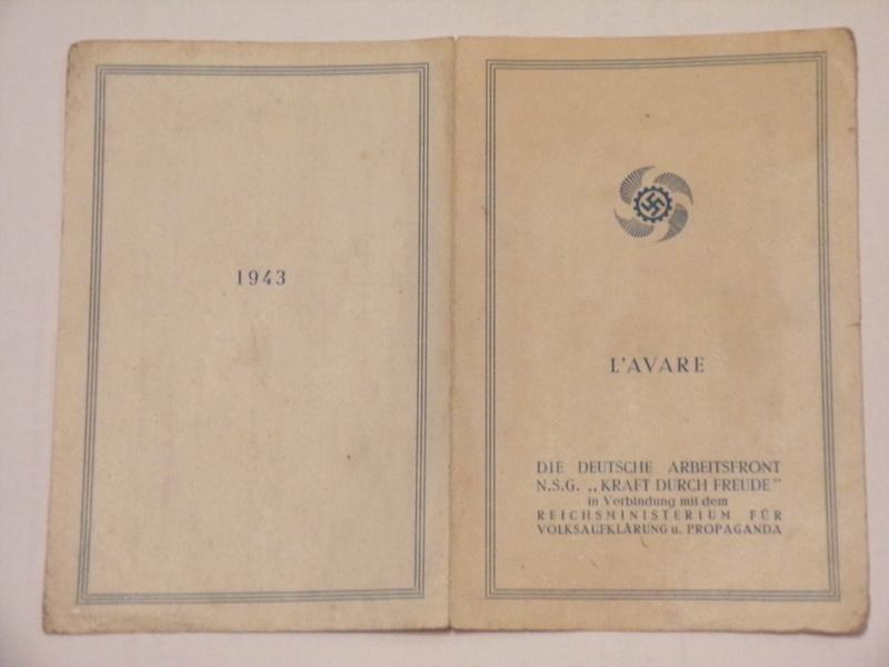 fascicule propagande allemande l'Avare (pièce de théâtre) 101_3812