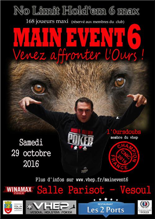 6e Main Event du Vesoul Hold'Em Poker Affich10