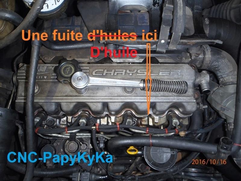 Fuite d'huile moteur 2.5 TD - 1995. Pa160020