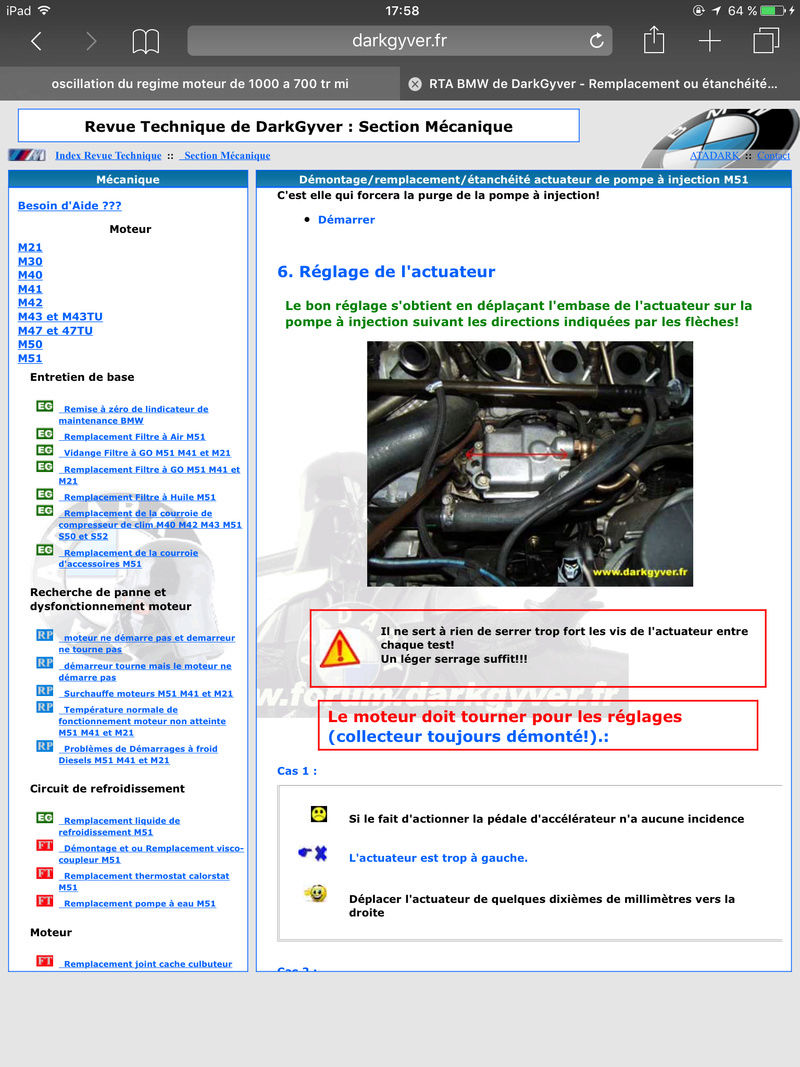 oscillation du regime moteur de 1000 a 700 tr mi  Image10