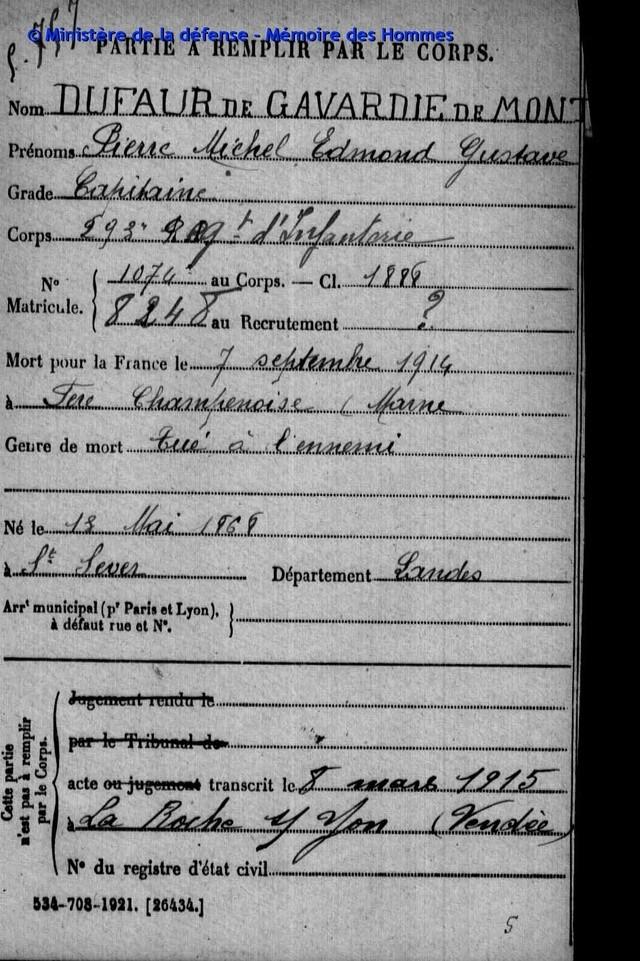 Lieutenant Dufaur de Gavardie de Monclar (Henri) , 501e RCC Archiv10