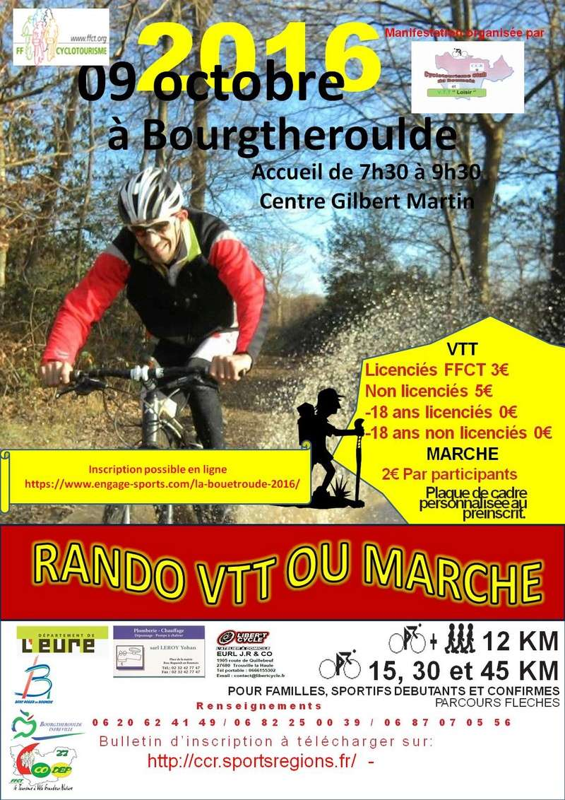 [09 octobre 2016] LA BOUE'TROUDE Edition 13 Affich10