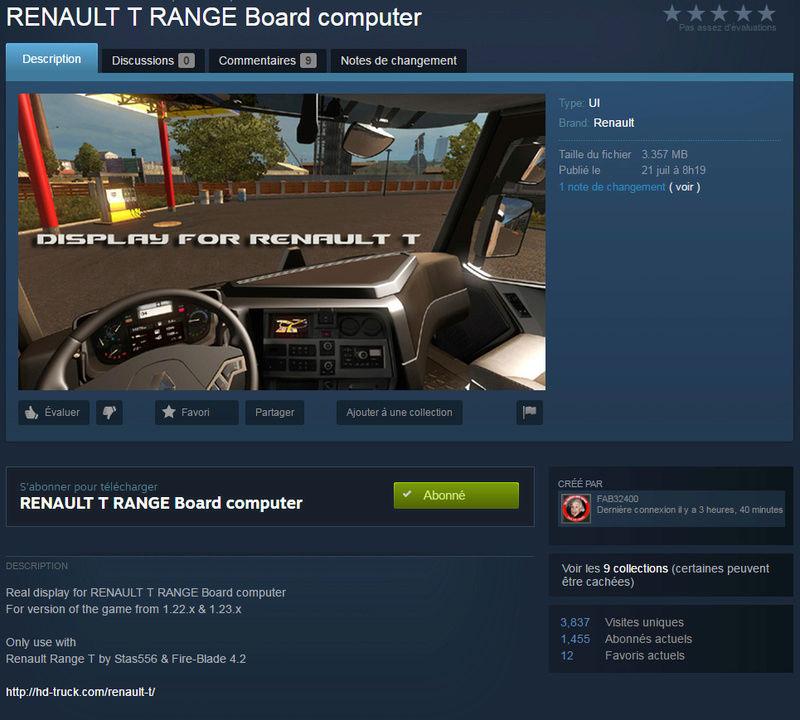 Renault T Range Board Computer Renaul10