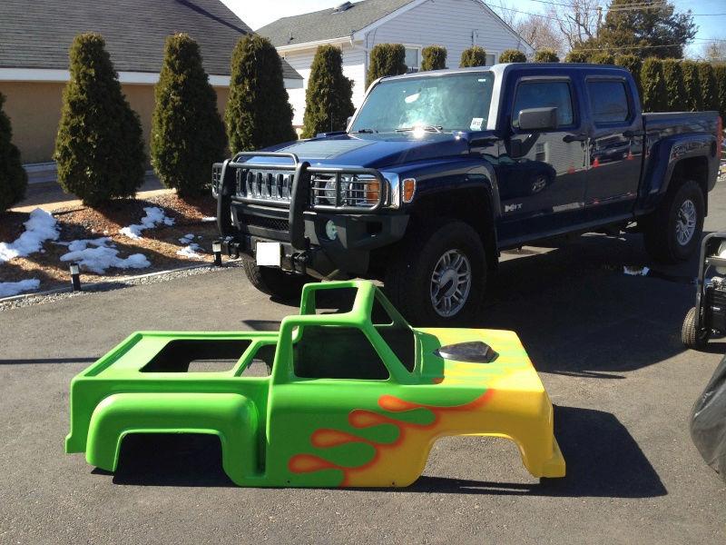 My kids Mini Monster Truck Go- Kart Img_0510