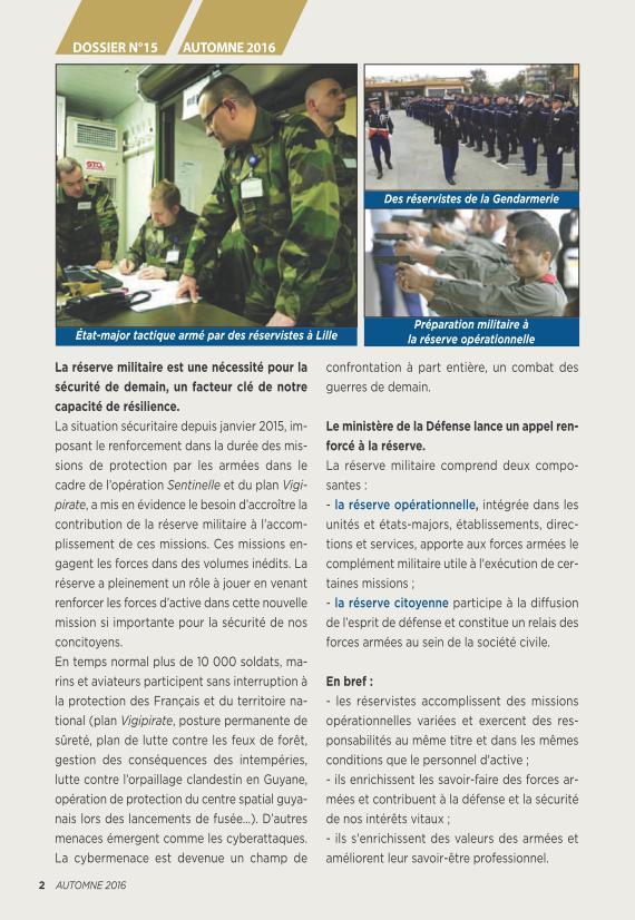 LA RESERVE MILITAIRE - ESR Reserv11