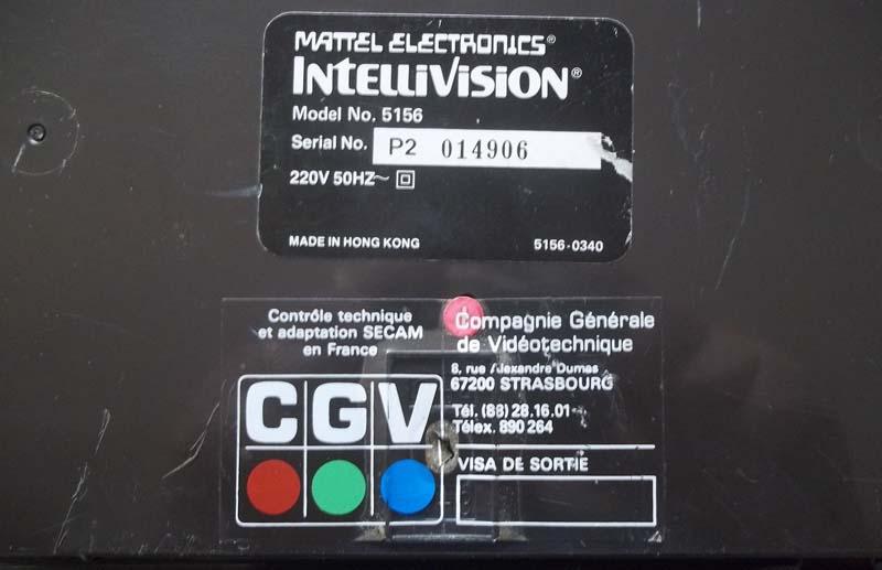Les différentes Versions d'Intellivision Intel10