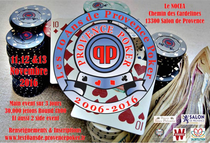 Les 10 ans de Provence poker les 11,12 et 13 Novembre 2016 Affich10