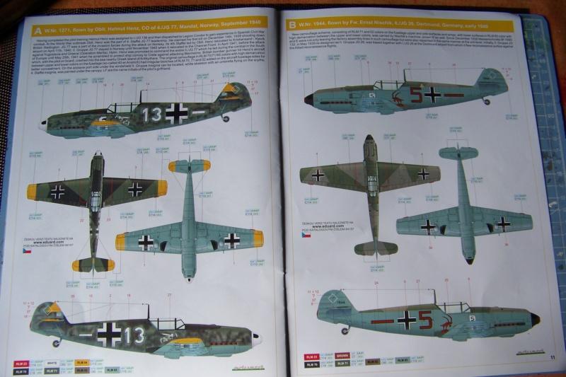 sur l' établi Bf 109 E3a 1/48 Eduard  Fini 100_8228