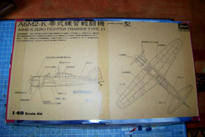 "A6M2-K Reisen  le ""Trainer"" de la Marine Impériale  1/48 Hasegawa Fini 100_8571"