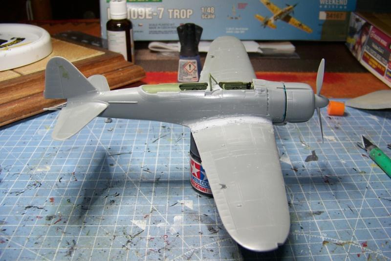 "A6M2-K Reisen  le ""Trainer"" de la Marine Impériale  1/48 Hasegawa Fini 100_8583"