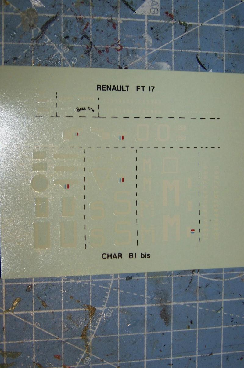 From the box - B1bis et FT17 Matchbox 1/76 100_8764