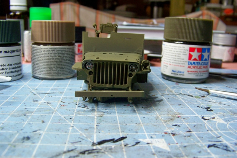 US Army 1/4 ton Armored Truck = Jeep Blindée ( Takom 1/35) 100_9109