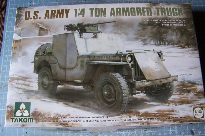 US Army 1/4 ton Armored Truck = Jeep Blindée ( Takom 1/35) 100_9681
