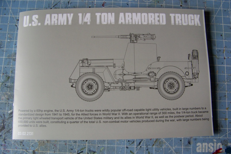 US Army 1/4 ton Armored Truck = Jeep Blindée ( Takom 1/35) 100_9682