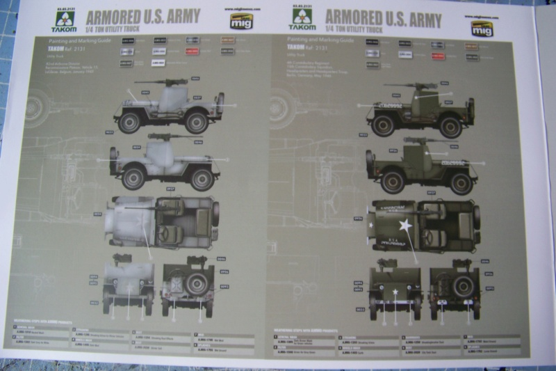 US Army 1/4 ton Armored Truck = Jeep Blindée ( Takom 1/35) 100_9689