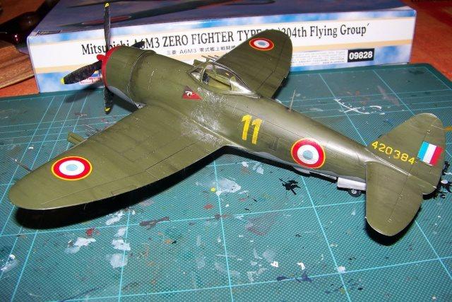 Republic P-47 D22 50th FG 81st FS Catz(ALG A10) Juin 44 ( Tamiya 1/48 ) 10176011