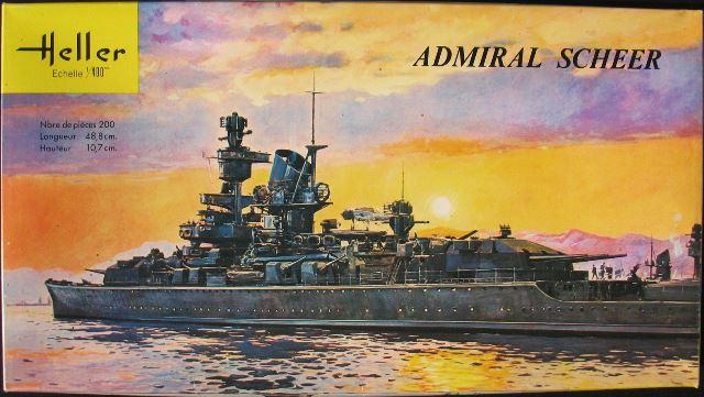 "Fil rouge 2020 : (Heller) Croiseur lourd ""Graf Spee"" - 1/400. 11011610"