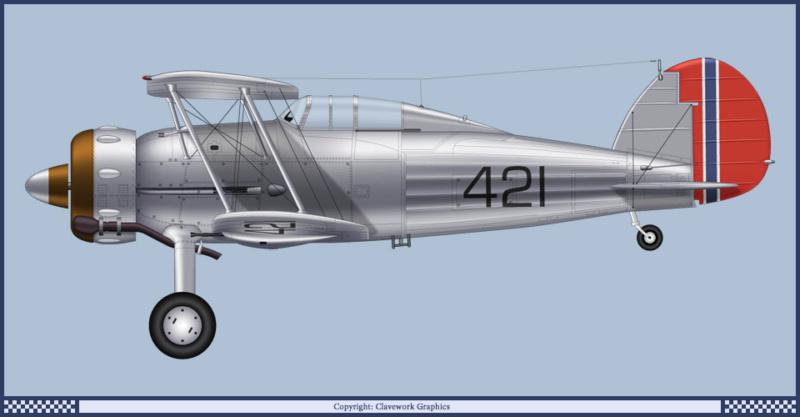 "Fil rouge 2020 : Gloster Gladiator MKI Jagevingen (Merit 1/48) ""Ferdig"" *** Terminé en pg 5 113_2_11"