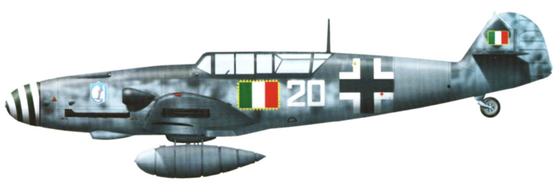 MESSERSCHMITT  bf 109  G.12 AZ model 1/72 123_1110