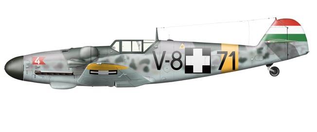 Bf 109 G-6 Hongrois V-8+71 du l'escadron de chasse 4/101 ( Octobre 1944) Hasegawa 1/48 +Décals Aviation USK 13_1710