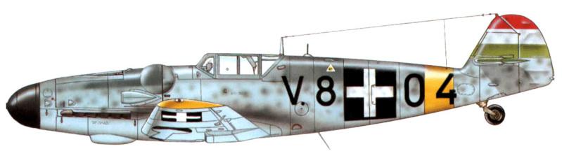 Bf 109 G-6 Hongrois V-8+71 du l'escadron de chasse 4/101 ( Octobre 1944) Hasegawa 1/48 +Décals Aviation USK 13_2410