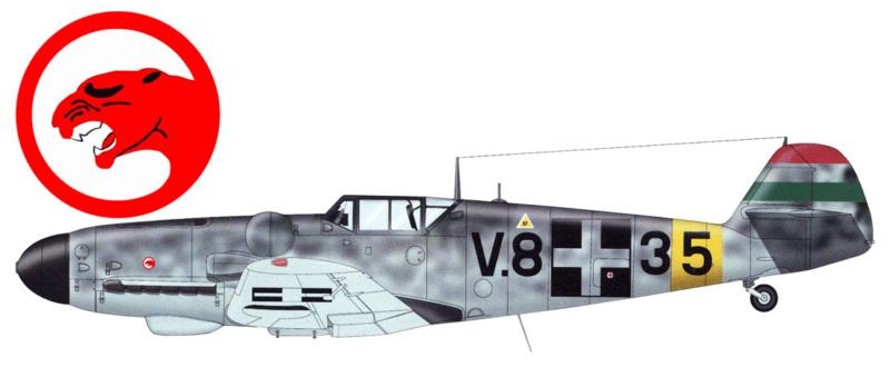 Bf 109 G-6 Hongrois V-8+71 du l'escadron de chasse 4/101 ( Octobre 1944) Hasegawa 1/48 +Décals Aviation USK 13_2510