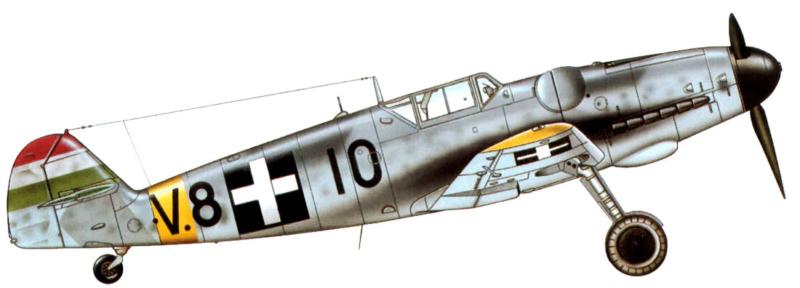 Bf 109 G-6 Hongrois V-8+71 du l'escadron de chasse 4/101 ( Octobre 1944) Hasegawa 1/48 +Décals Aviation USK 13_2610