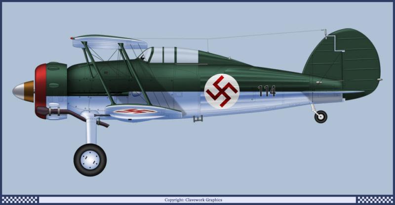 "Fil rouge 2020 : Gloster Gladiator MKI Jagevingen (Merit 1/48) ""Ferdig"" *** Terminé en pg 5 188_2_11"