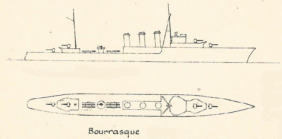 "Torpilleur 1455 t  "" Bourrasque "" ( Orp Wicher 1/400 Mirage) 20022410"