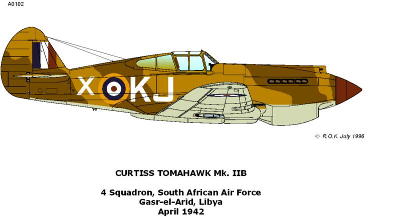 Curtiss Tomahawk Mk.IIB 1/72 de chez Airfix Avec son socle FINI!!!!!!! 216_110