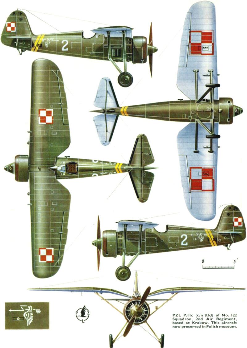 [MIRAGE] PZL P-11c .121 Eskadra Mysliwska, III/2 Pulk Lotniczy : Skończone Réf 48102  2_10