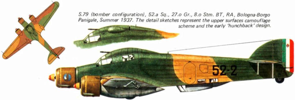 savoia-marchetti sm-79-2 sparviero trumpeter 1/48 32_3510