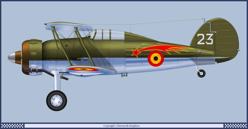 "Fil rouge 2020 : Gloster Gladiator MKI Jagevingen (Merit 1/48) ""Ferdig"" *** Terminé en pg 5 66_1_b11"