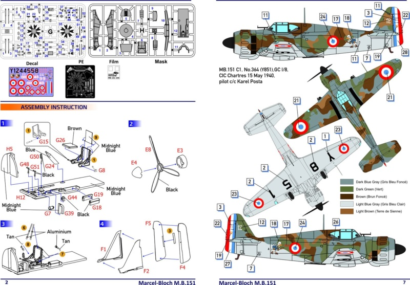 Bloch 151 C1 Dorawings 1/48  69104010