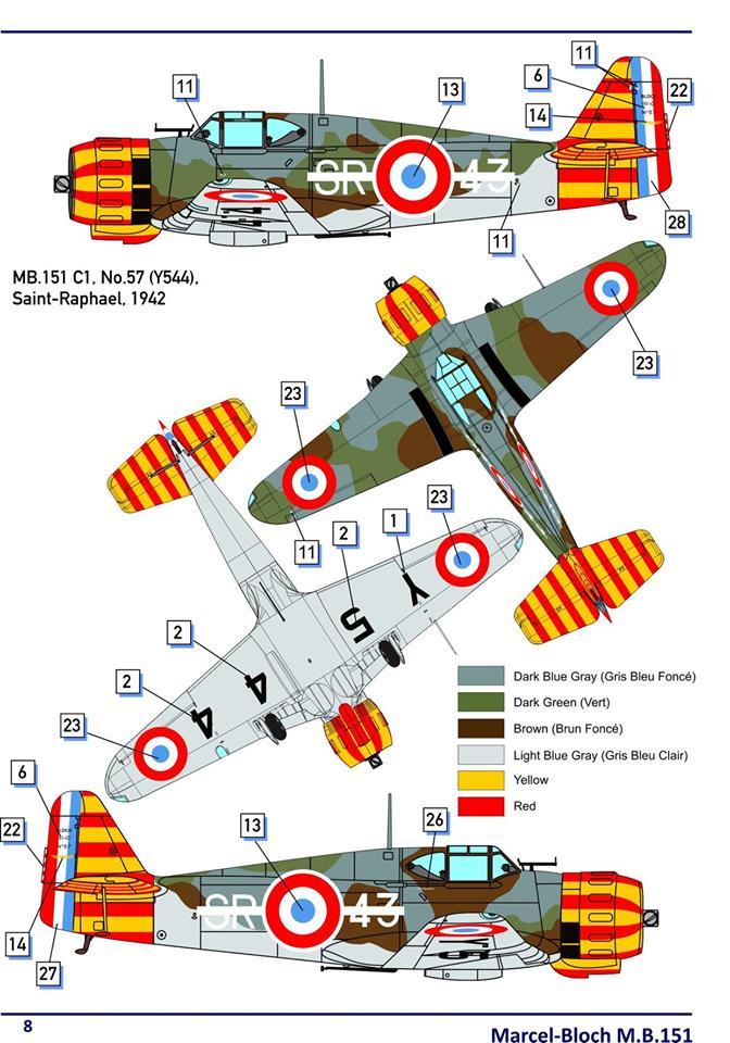 Bloch 151 C1 Dorawings 1/48  69570010