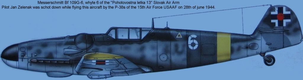 """MESSERSCHMITT 109  G.6 """"SLOVAK""""                           AZ MODEL 1:72 83_410"""