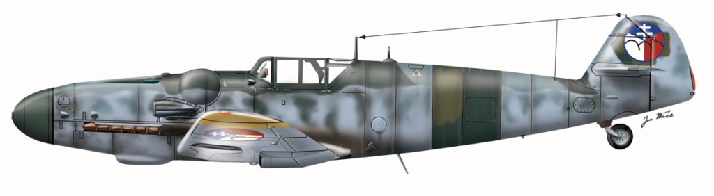 "MESSERSCHMITT 109  G.6 ""SLOVAK""                           AZ MODEL 1:72 97_110"
