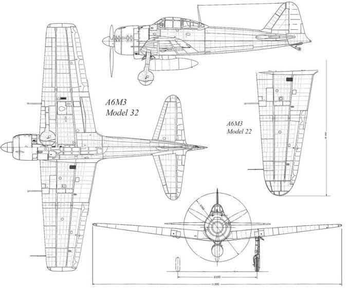 A6M3 Reisen type 32 Hamp ( ZERO) 1/48 Hasegawa Fini - Page 2 A6m3_m10