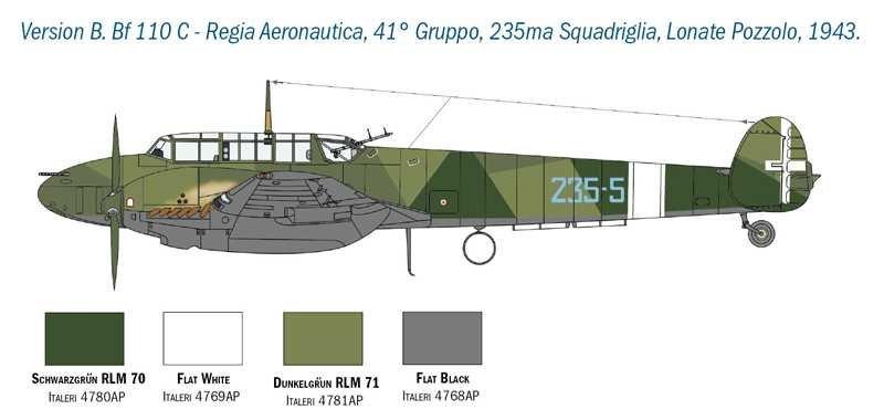 Fil rouge 2021 * Bf 110 Italeri ( Fujimi 1/48 ) Bf-11010