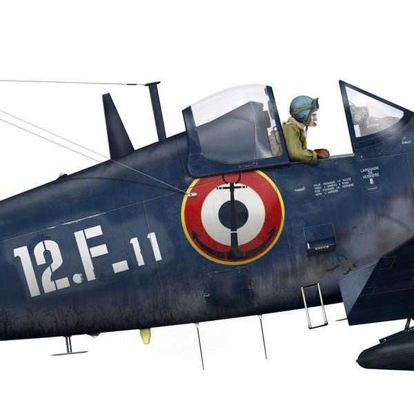 "F4U-7 Corsair ""french navy"" 48 de HASEGAWA (fini) F4u-7-11"