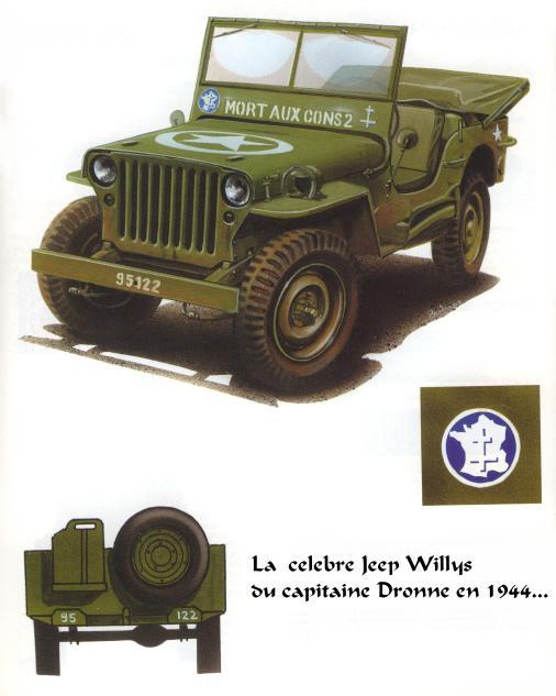 JEEP - 2EME DB - CAPITAINE DRONNE - MORT AUX CONS - ITALERI 1/35 Jeep10