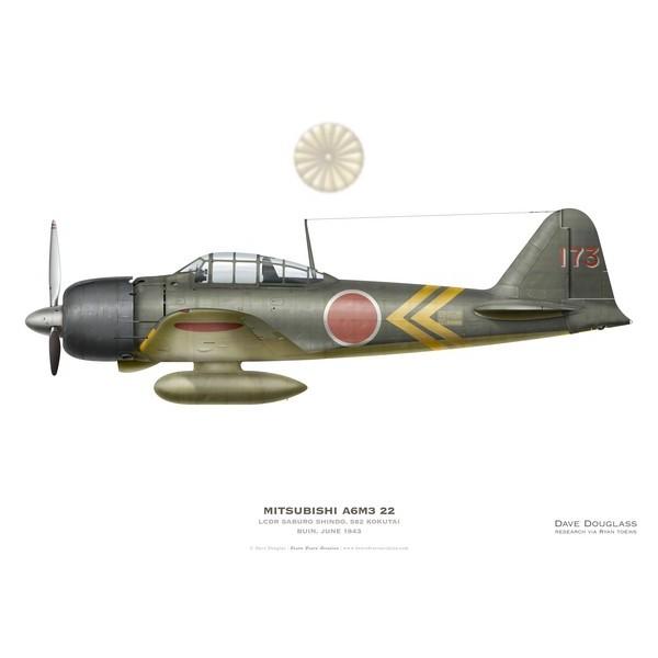 A6M3 Reisen Cdt Saburo Shindo, 582 Kokutai , Buin, juin 1943  ( Tamiya 1/48) Mitsub11