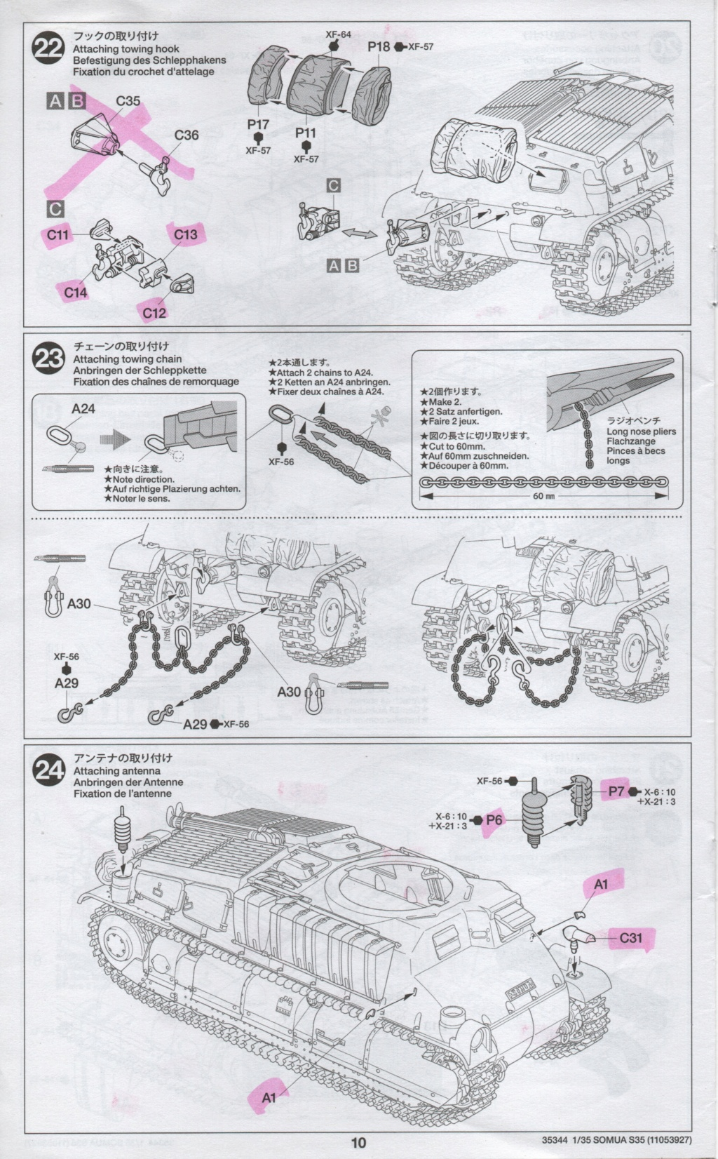 Somua S 40 ARL2C  (Tamiya / BMV 1/35 ) - Page 3 Numzo143