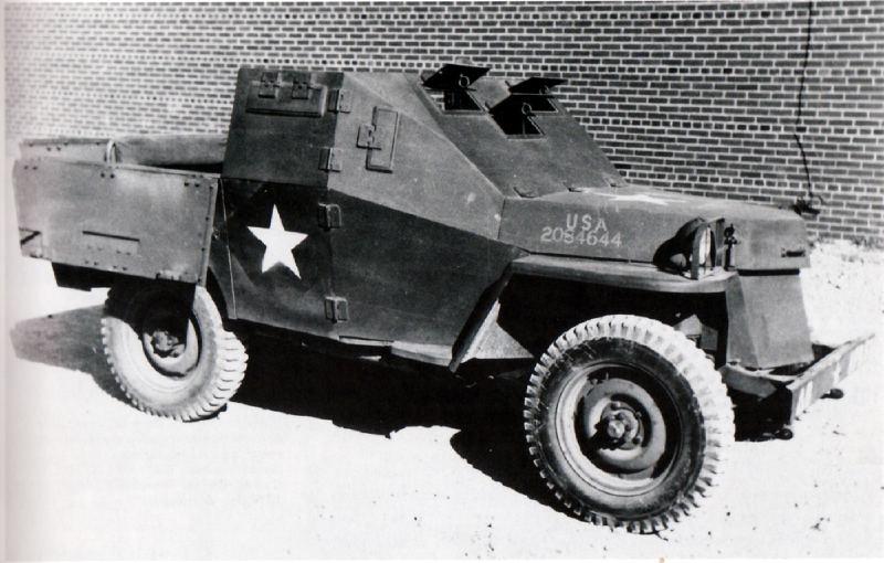 US Army 1/4 ton Armored Truck = Jeep Blindée ( Takom 1/35) R_110