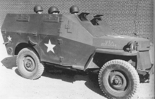 US Army 1/4 ton Armored Truck = Jeep Blindée ( Takom 1/35) T25e3110