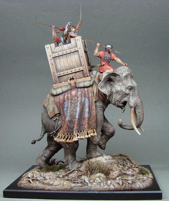 éléphant carthaginois d'andréa miniatures, 1/35 13cee110