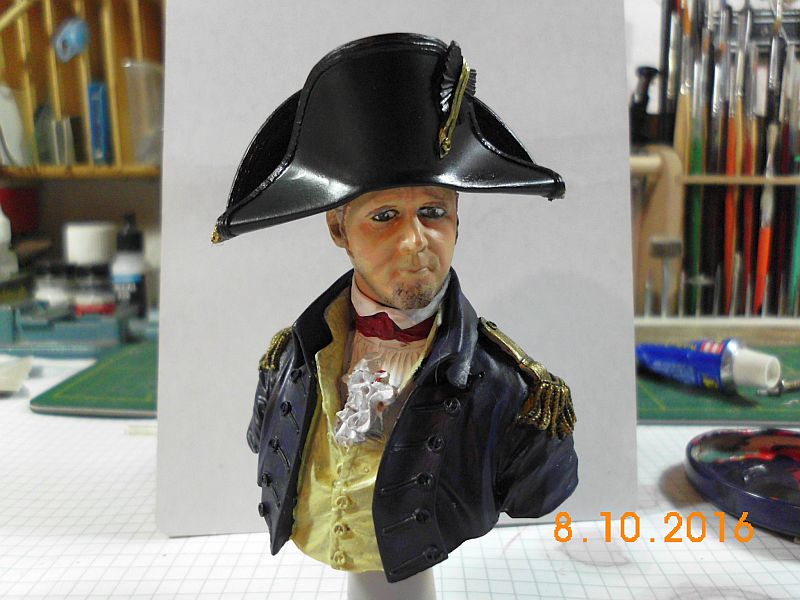 "YH 1814 - Royal Navy Captain ""Lucky Jack"" - Resinbüste, 1/10 - Fertig 010"
