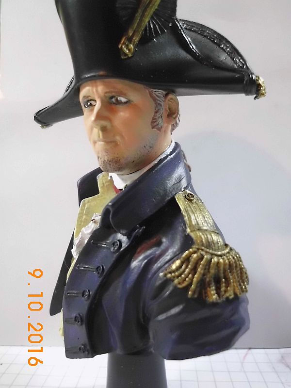 "YH 1814 - Royal Navy Captain ""Lucky Jack"" - Resinbüste, 1/10 - Fertig 220"